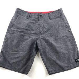 "Oakley Mens 20"" Flat Front Shorts Size 34 Grey"